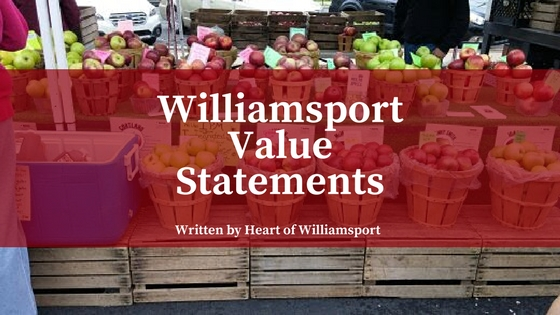 Williamsport Value Statements