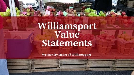 Williamsport Value Statements