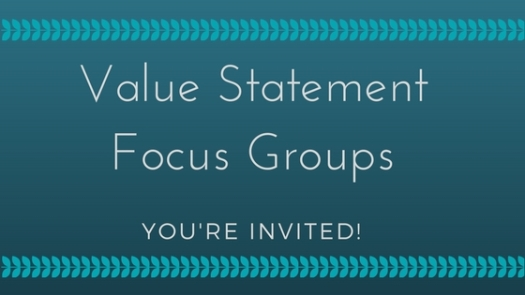 Heart of Williamsport's upcoming dates for Focus Groups